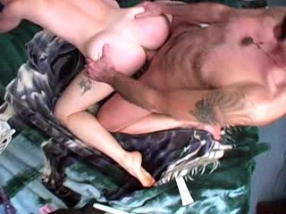 Girls booty stuffed with cock and toy