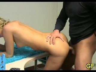 Teen gets creamed all over