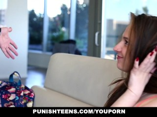 PunishTeens – Teen Gets Punished by Her Step Daddy