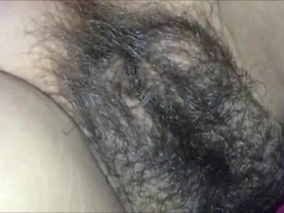 Cumming All Over Her Hairy Twat