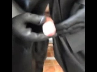 Playing with my cock in lovely rubber is so fucking horny for me. mmmm
