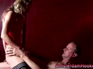 Sexy dutch hooker sucks dick