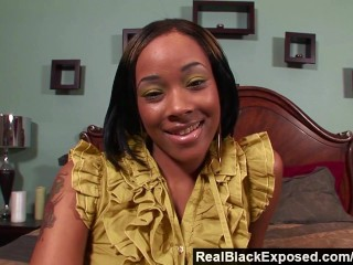 RealBlackExposed – She Takes Every Inch of Shorty Mac's Massive Cock