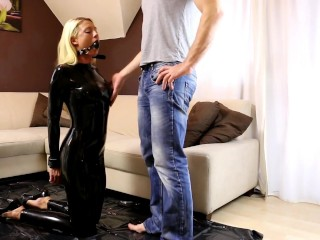 My Dirty Hobby – Daynia in Latex Catsuit
