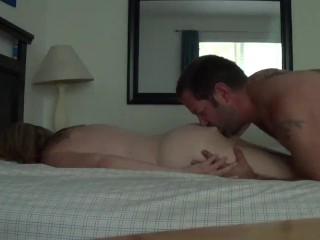 Ass licking to some hair pulling as I fuck Sweetstuff from behind