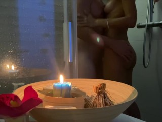 I went to Him in the Shower for Sex To Cum on My Stomach. Sexy College Camping Vacation
