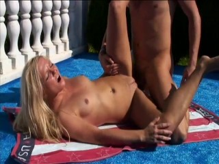 Lovely little blonde lady fucks outdoors – Intense Industries