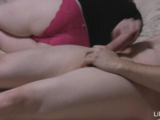 Lilly White lets him play in her panties