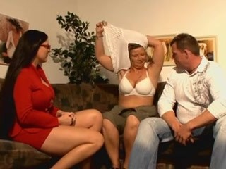 Lucky guy having fun with 2 hot german moms