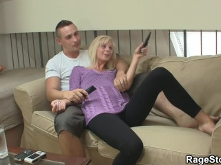 He punishes his blonde bitch deep and hard