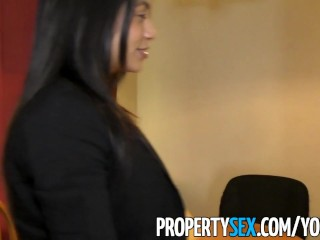 PropertySex – Latina real estate agent squirts while fucking client