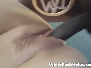 Average next door slutty housewife getting her dream of a black cock inside her lived out