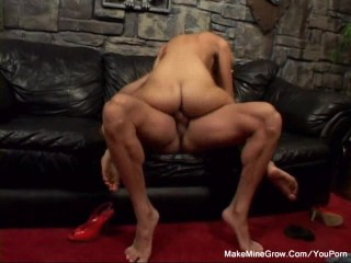 Dildo then hard cock by muscle man 1