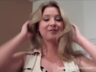 Sunny Lane Services Big Cock in Hotel Room