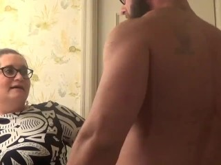 Sexy Brunette BBW gets fucked over the sink! Facial ending!