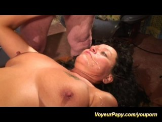 Papy screws dame in crazy foursome