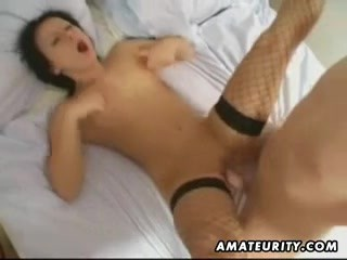Kinky brunette amateur callgirl homemade fuck with cumshot