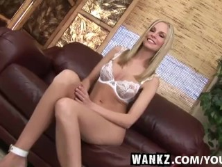 WANKZ- Aimee Addison Pummeled by Machine