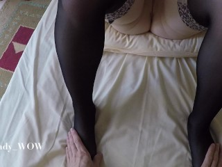 POV missionary sex and cum inside tight pussy – Lady_WOW