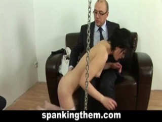 Spanked and humiliated for laziness