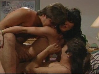 Three on a bed getting fucked
