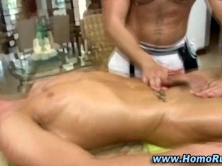 Bear plays with straight cock
