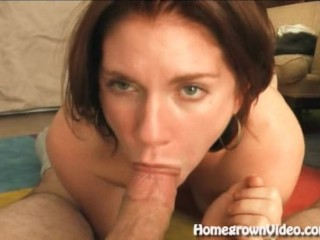 Deepthroat Brunette Gets A Throat Poking