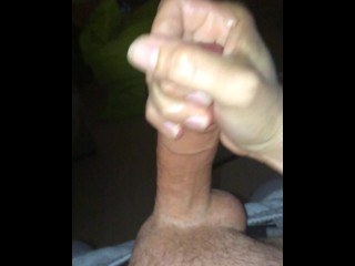 Slo-mo jerking off with cum