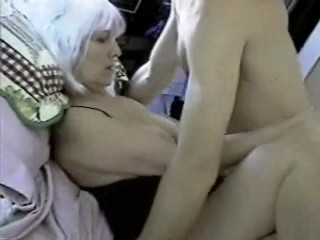 Mature wife takes hubbys load