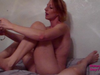 POV Blowjob in Heels Lying Down With Dirty Talk Until Cum in Mouth