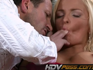 Blonde Babe Jena Lovely Fuck and Cum on Ass