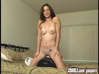 Jackie has her first sybian orgasm