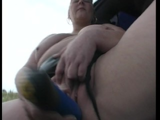 Large lady handles herself just right (clip)