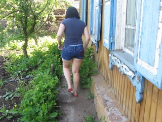 I'm Pissing Behind The House In The Russian Village