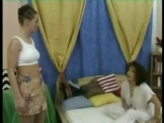 Mother spanks and shaves daughter