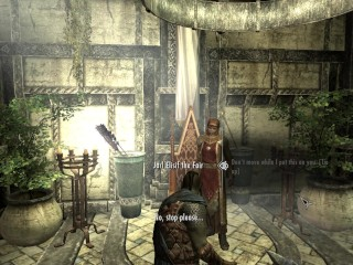 (Skyrim) orc breaks into castle and fucks queen and her stewardesses