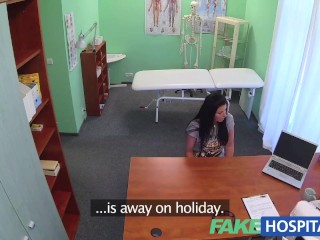 Fakehospital naughty lovely milf gets banged on the examination
