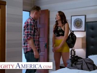 naughty america – audrey miles sneaks a quick fuck with her friends husband