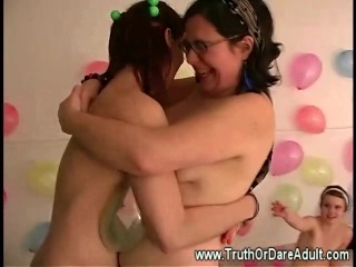 Lesbian party hosting sexual games