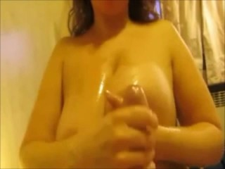 Amateur MILF with really huge tits