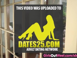 Girls out west busty amateur toys her hairy snatch