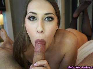 Filthy young cocksucker takes load in mouth