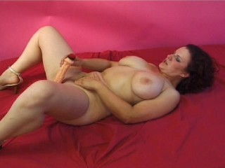 Slipping in the Dildo to Her Wet Pussy