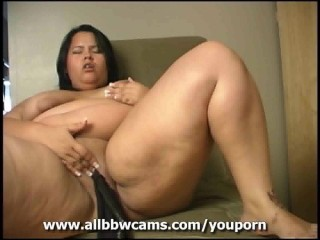 sexy giant BBW pantie insertion