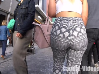 The best candid bubble booty girl