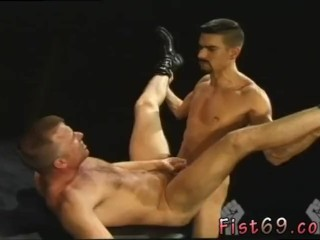 Naked gay foreign men Club Inferno's own Uber-bottom, Rick West opens the