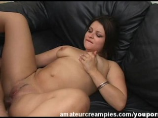 Hot Babe Sadine, Pussy Filled With Thick Cum