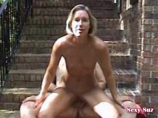 Sexy Suz Outdoor Masturbation & Anal Sex