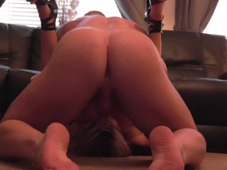 Sexy big tits muscle chick, high heels fucked cumshot amateur muscle couple