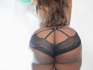 1st Timmer 18yr Old Ebony Teen in Sexy Lingerie 2